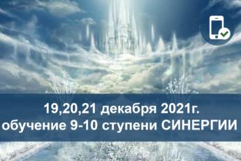 19, 20, 21 декабря 2021г. он-лайн обучение 9-10 ступени метода Синергия